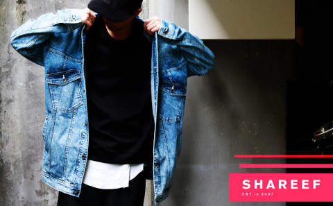 【SHAREEF】chemical denim jacket