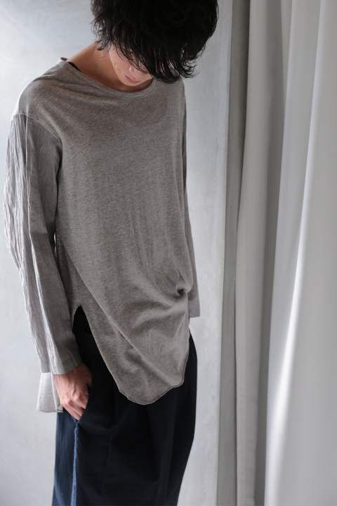 LONG SLEEVE CUTSEW(L.gray-Elephant light/EH34TS-03)