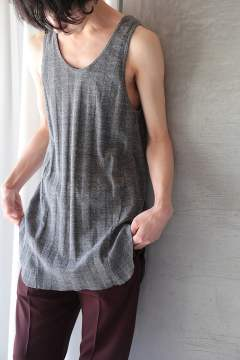 LONG TANK TOP(TOP GRAY)