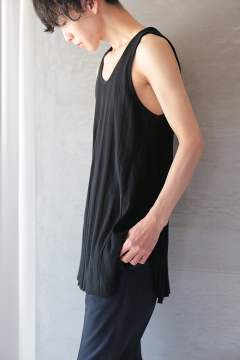 LONG TANK TOP(BLACK)