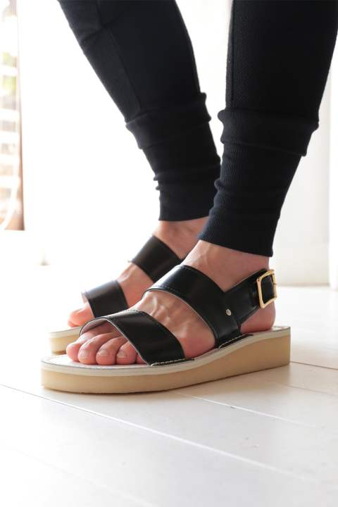 【ラスト1点】LEATHER SANDAL(BLACK LEATHER)