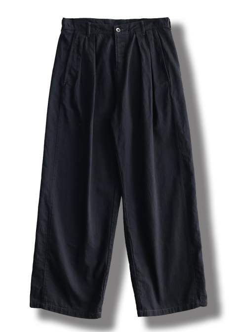 【ラスト1点】DENIM SIDE LINE PANTS O/W(BLACK)