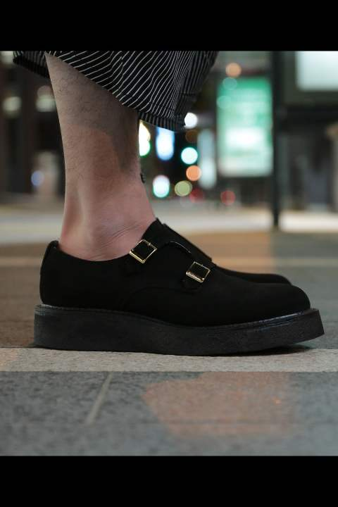 DOUBLE MONK SHOES(BLACK SUEDE)