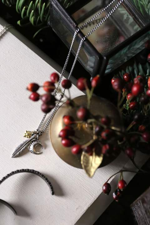 Native 3charm Necklace(Silver925×18KYG/15本限定)