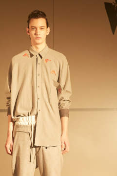 【ラスト1点】EMB. BIRD SHIRTS(GRAY)