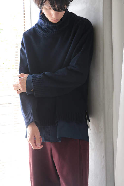 TURTLE KNIT(NAVY/EH35KN-03)