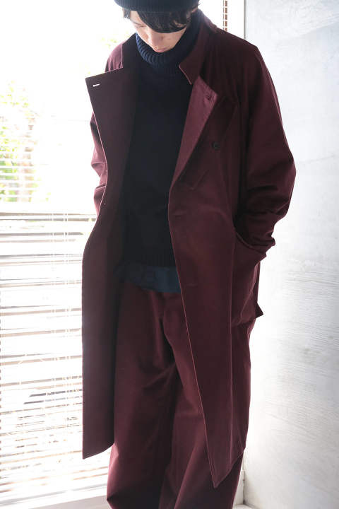 【ラスト1点】STAND COLLAR COAT(WINE/EH35C-03C)