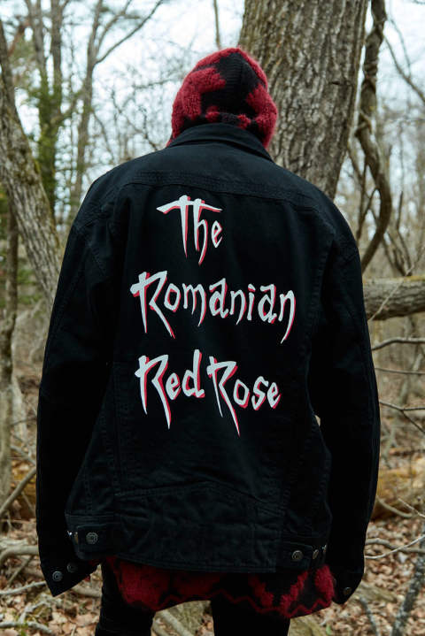 ROMANIAN RED ROSE BB DENIM(BLACK)