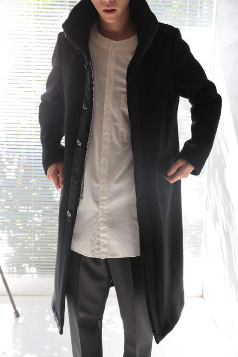 STANDCOLLAR COAT(BLACK)