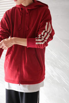 Y-3 3-STRIPES HOODIE(CHILI PEPPER/UNDYED)