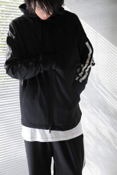 Y-3 3-STRIPES HOODIE(BLACK/CORE WHITE)