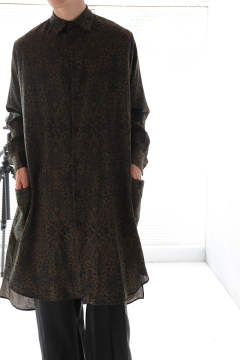 PRINT BIG LONG SHIRT(BOTANICAL)