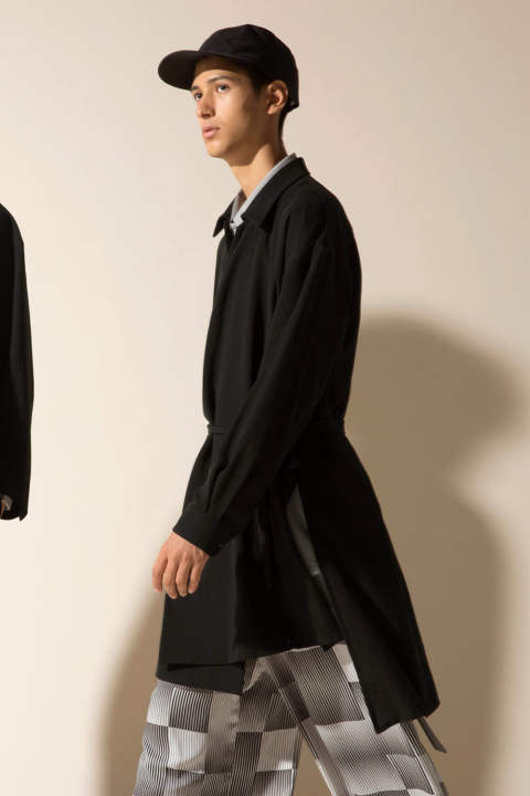 【ラスト1点/E118-502】SOUTIEN COLLAR COAT(BLACK)