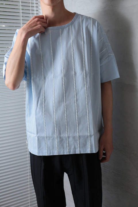 【ラスト1点】EMBROIDERY SHIRTS(SAX BLUE)