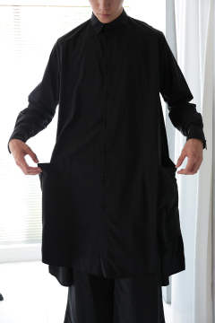 BIG LONG SHIRT(BLACK)