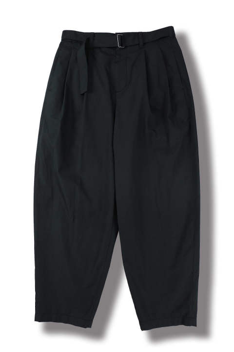 RELAXED PLEATED TROUSER W BELT(MIDNIGHT)