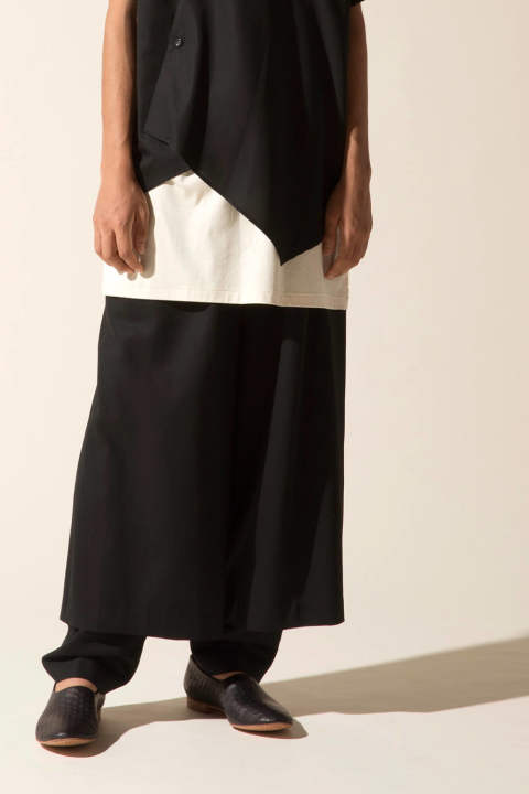 VENETIAN LAYERD PANTS【E118-704(BLACK)】