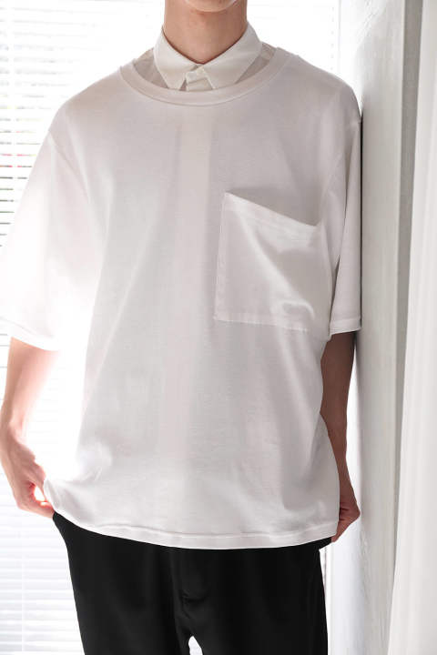 BIG POCKET T-SHIRTS(WHITE)
