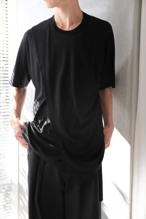 【ラスト1点/E118-001】LAYERED T-SHIRTS(BLACK)
