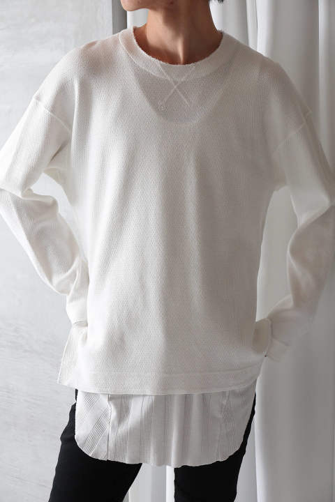 【ラスト1点】SLIT THERMAL CUTSEW(WHITE)