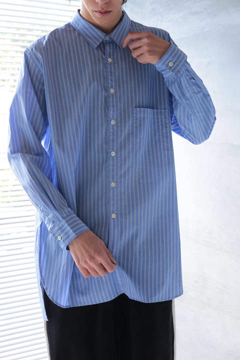 STRIPE LONG SHIRT(BLUE/WHITE)