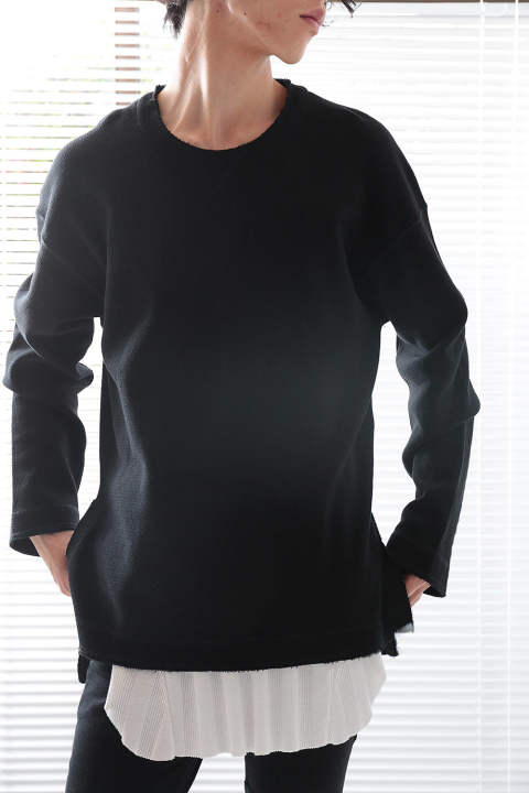 【ラスト1点】SLIT THERMAL CUTSEW(BLACK)
