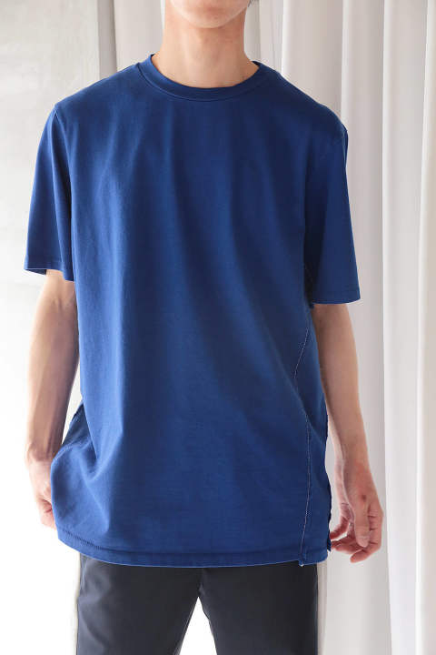 SS RE-CONSTRUCTED T-SHIRT(COBALT)