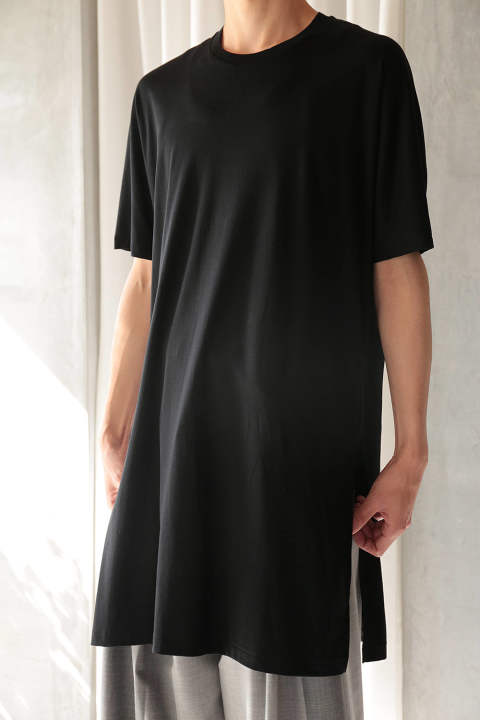 【ラスト1点/E118-003】LONG T-SHIRTS(BLACK)
