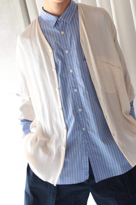 SHIRTS CARDIGAN(WHITE/EH36SH-01B)