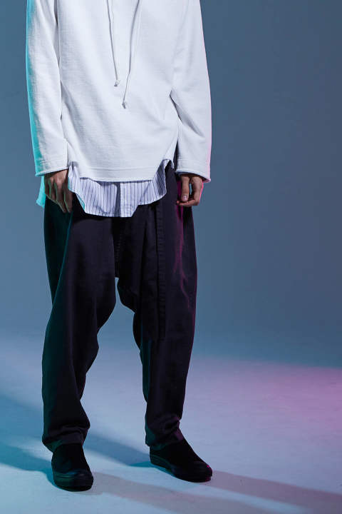 【ラスト1点】WIDE CROPPED WRAP PANTS(GRAY)