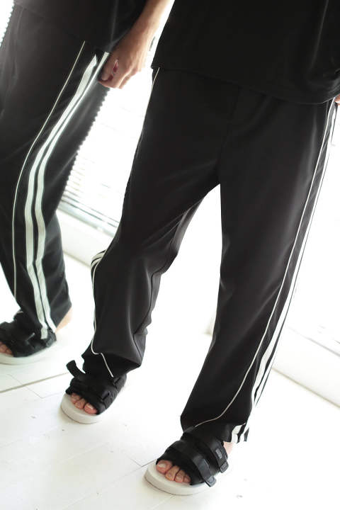 E/2WAY TRACK PANTS(BLACK)