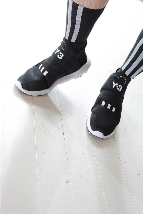 Y-3  TECK SOCKS(BLACK/WHITE)