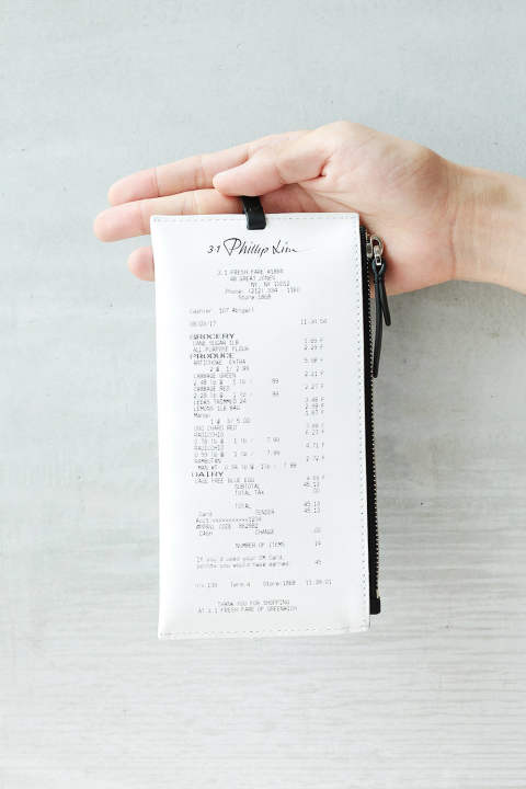 RECEIPT HOLDER-RECEIPT PRINT(WHITE-BLACK)