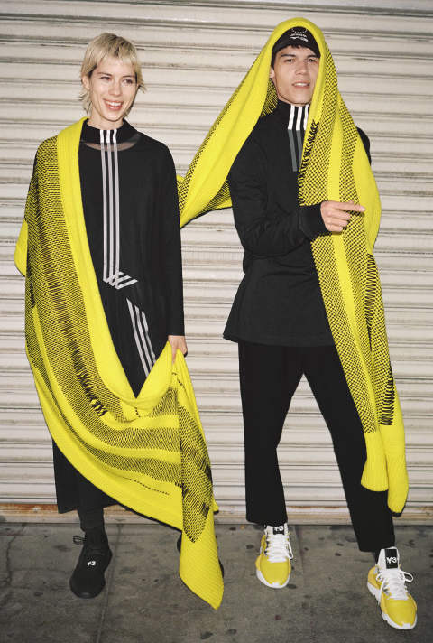 Y-3 KNIT SCARF(YELLOW)