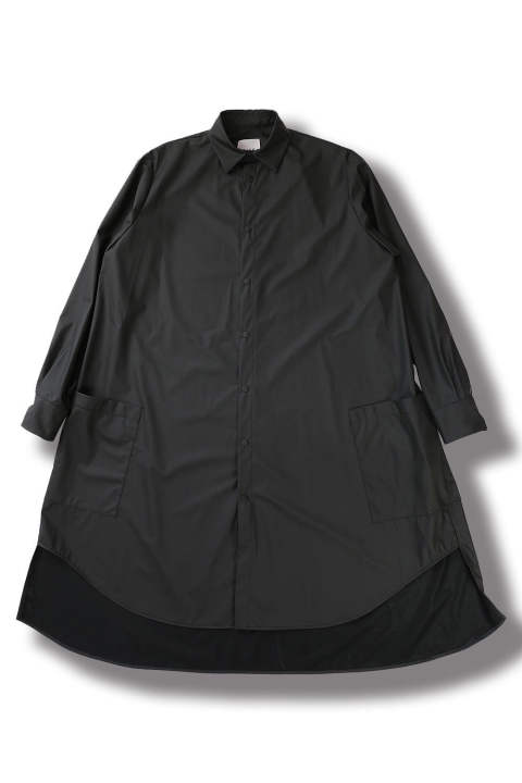 LONG POCKET SHIRT(BLACK)