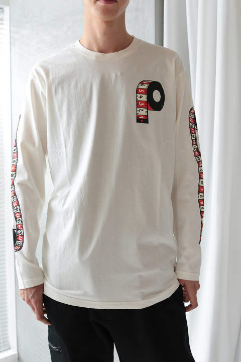 【ラスト1点】MEASURING MENS LS TEE(OFF WHITE)