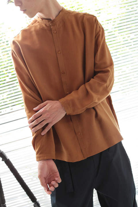 【ラスト1点】brown wide shirts