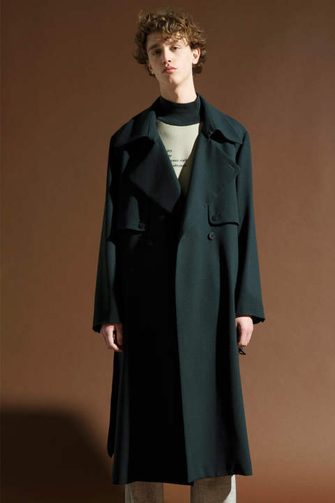 GEORGETTE TRENCH COAT【E218-502(GREEN)】