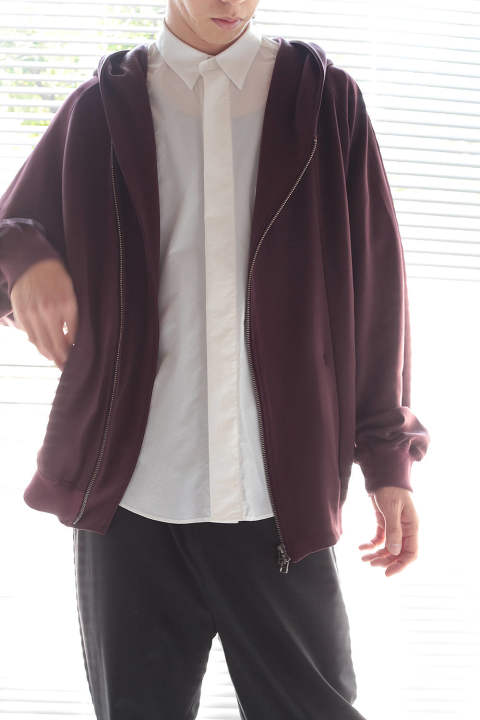 ZIP UP HOODIE BLOUSON(BORDEAUX)