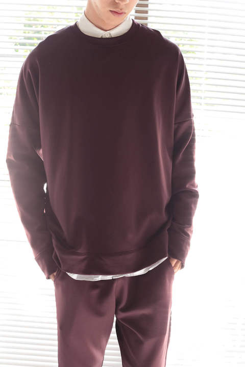 DROPPED SHOLDER SWEAT(BORDEAUX)