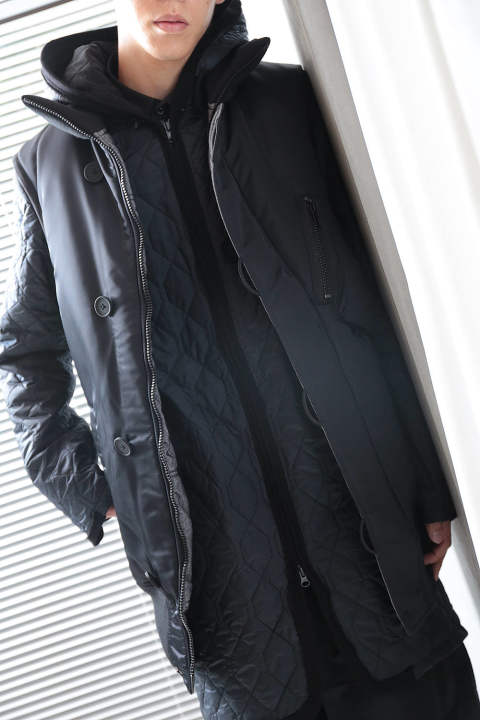 【ラスト1点】M OVERSIZED REVERSIBLE VEST(BLACK/ANTHRACITE)