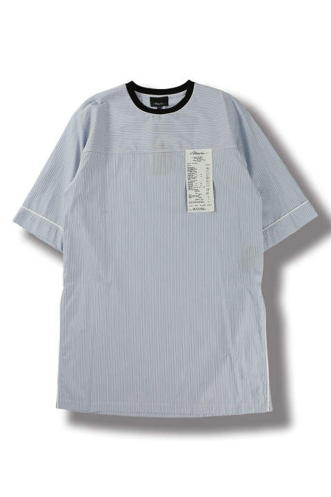 【ラスト1点】SS STRIPE OVERSIZED SLEEPING TEE(WHITE MULTI)
