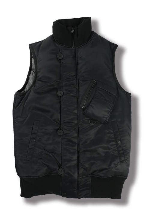 M OVERSIZED REVERSIBLE VEST(BLACK/ANTHRACITE)