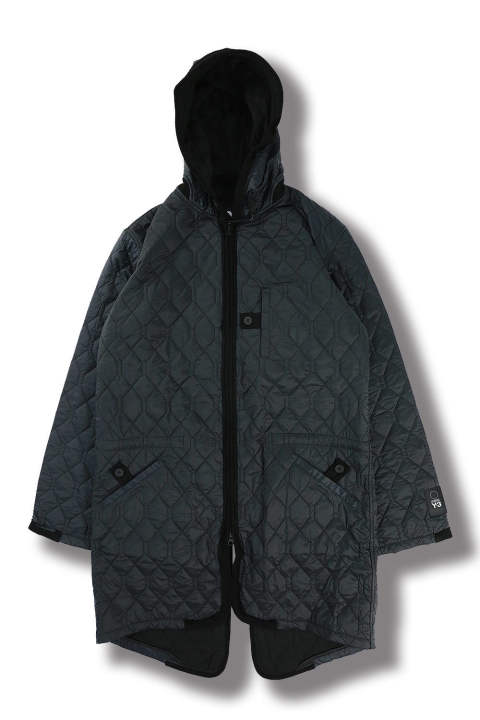 U QUILTED JACKET(NIGHT GREY/BLACK)