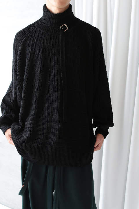 TURTLE BELT KNIT(BLACK)