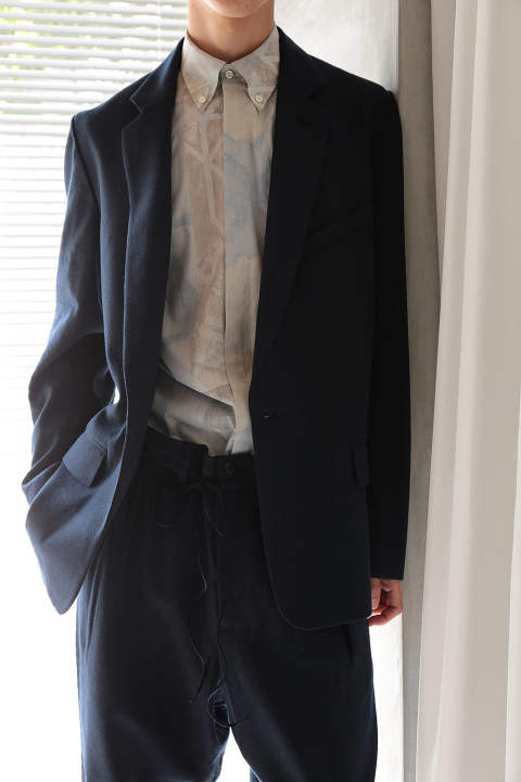 TAILORED JACKET(NAVY WASHI/EH37J-01B)
