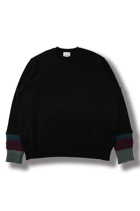 MIX YARN KNIT(BLACK)