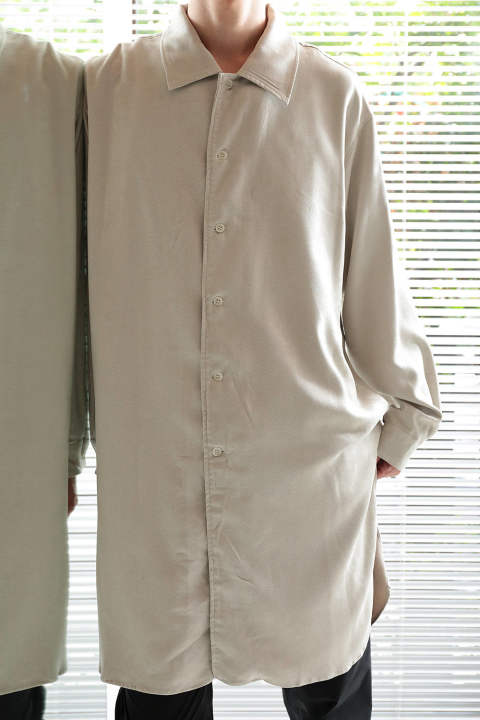 E/SUEDE LONG SHIRT(OATMEAL)