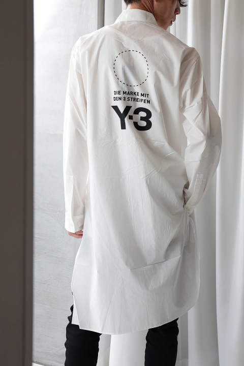 【ラスト1点】U STACKED LOGO LONG SHIRT(CORE WHITE/BLACK)