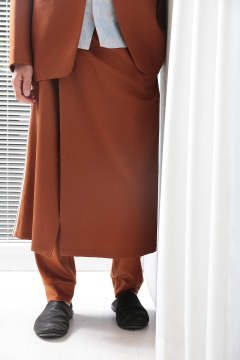brown skirt pants
